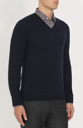 Пуловер из смеси хлопка и кашемира   Фото №3
