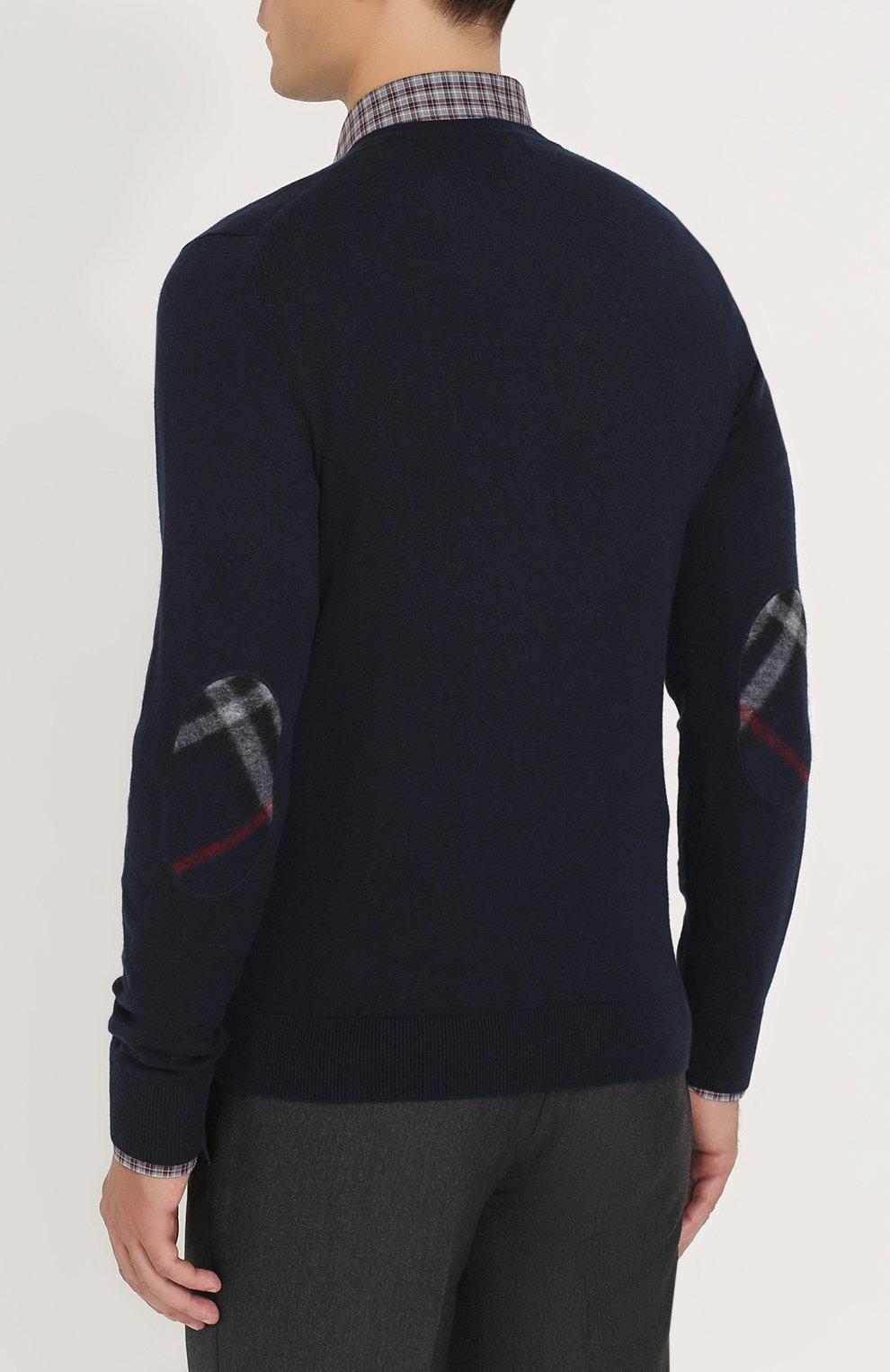 Пуловер из смеси хлопка и кашемира   Фото №4