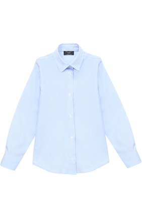 Детская хлопковая рубашка прямого кроя DAL LAGO голубого цвета, арт. N402/7317/4-6 | Фото 1