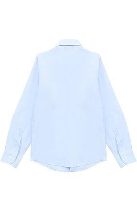 Детская хлопковая рубашка прямого кроя DAL LAGO голубого цвета, арт. N402/7317/4-6 | Фото 2