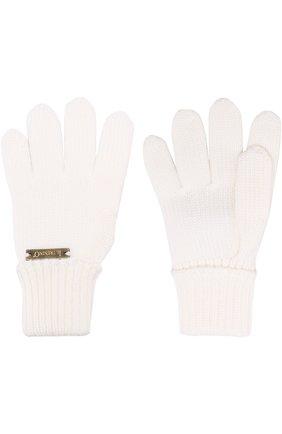Детские шерстяные перчатки IL TRENINO белого цвета, арт. 17 5059/E3 | Фото 2