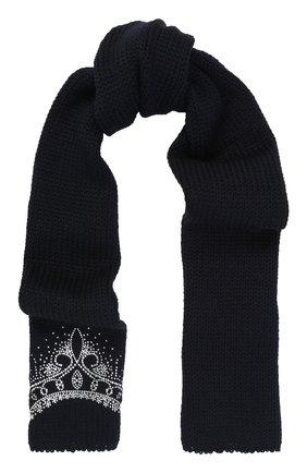 Шерстяной шарф со стразами | Фото №1