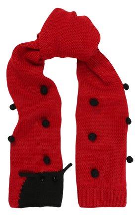 Шерстяной шарф с декором | Фото №1