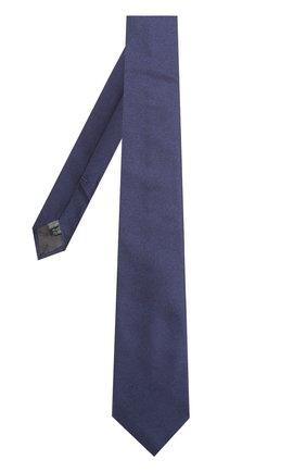 Галстук из смеси шелка и полиэстера Dal Lago голубого цвета | Фото №1