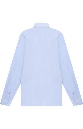 Детская хлопковая рубашка с воротником кент DAL LAGO голубого цвета, арт. N402/7815/XS-L | Фото 2