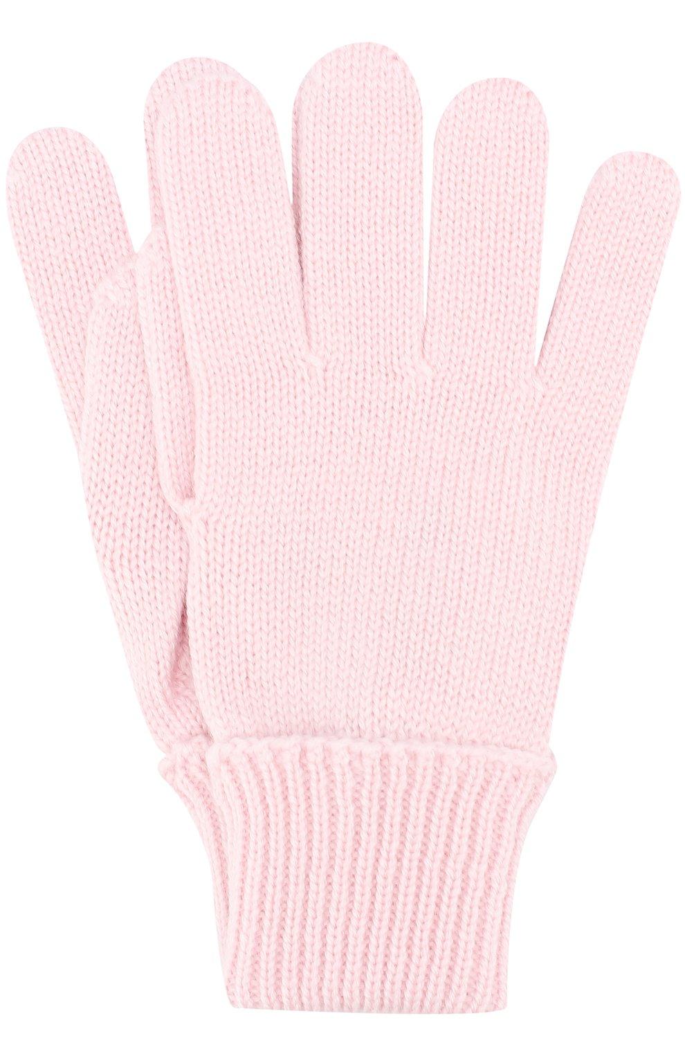 Детские шерстяные перчатки IL TRENINO светло-розового цвета, арт. 17 5059/E3 | Фото 1