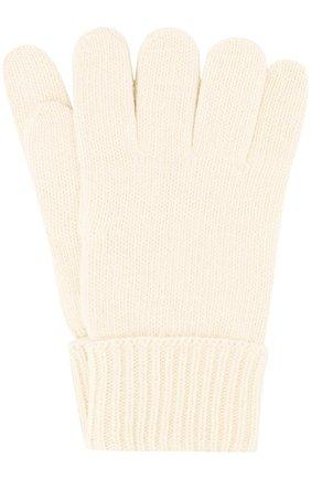 Детские перчатки из смеси шерсти и кашемира IL TRENINO белого цвета, арт. 17 5139/EX | Фото 1