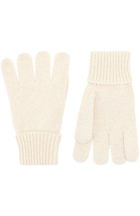 Детские перчатки из смеси шерсти и кашемира IL TRENINO белого цвета, арт. 17 5139/EX | Фото 2