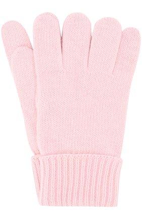 Детские перчатки из смеси шерсти и кашемира IL TRENINO розового цвета, арт. 17 5139/EX | Фото 1