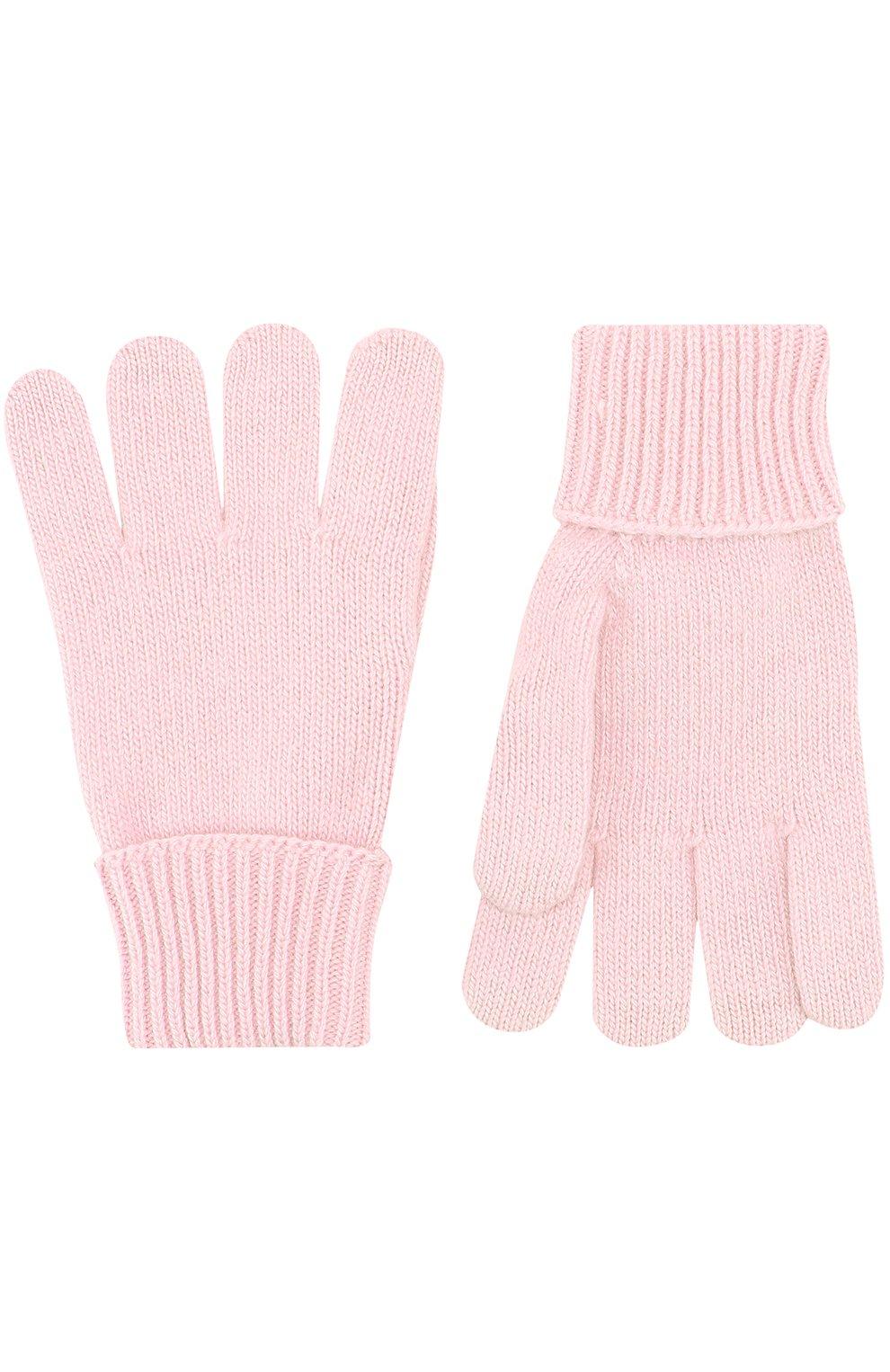 Детские перчатки из смеси шерсти и кашемира IL TRENINO розового цвета, арт. 17 5139/EX | Фото 2