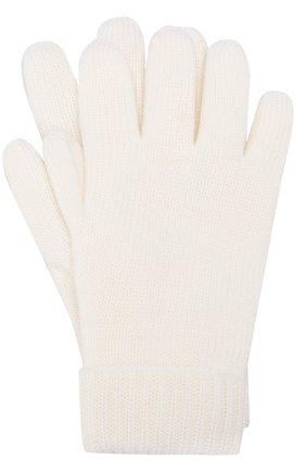 Детские шерстяные перчатки IL TRENINO белого цвета, арт. 17 9008/E0 | Фото 1