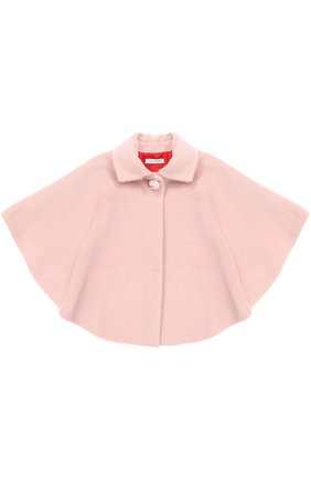Шерстяное пончо I Pinco Pallino розового цвета | Фото №1