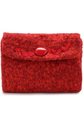 Текстильная сумка с декором I Pinco Pallino красного цвета | Фото №1