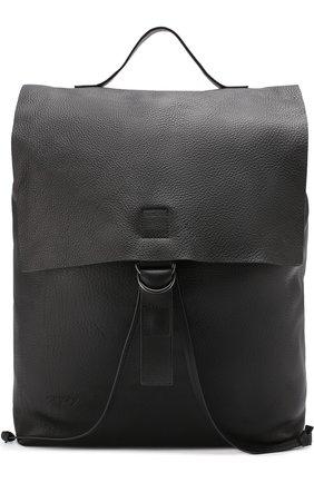 Кожаный рюкзак с клапаном