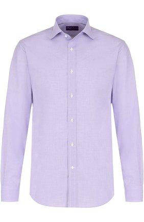 Мужская хлопковая сорочка с воротником кент RALPH LAUREN сиреневого цвета, арт. 791668877 | Фото 1