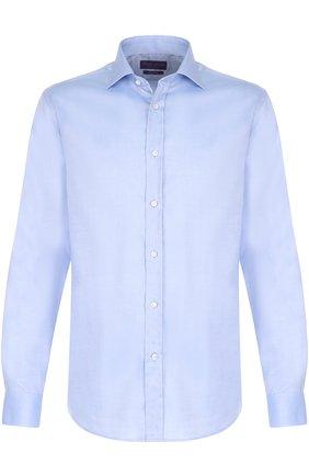 Мужская хлопковая сорочка с воротником кент RALPH LAUREN голубого цвета, арт. 791677969 | Фото 1