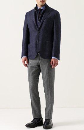 Мужская хлопковая сорочка с воротником кент RALPH LAUREN голубого цвета, арт. 791677969 | Фото 2