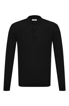 Мужское шерстяное поло GRAN SASSO черного цвета, арт. 45132/14790 | Фото 1