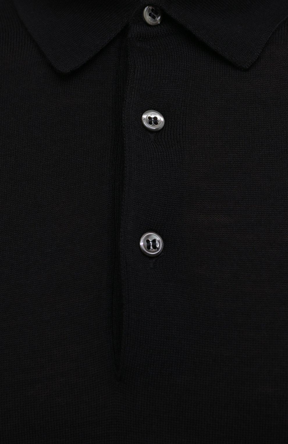 Мужское шерстяное поло GRAN SASSO черного цвета, арт. 45132/14790 | Фото 5