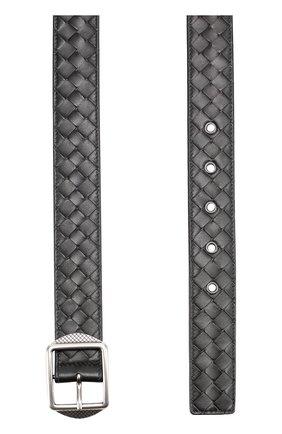 Мужской кожаный ремень с металлической пряжкой BOTTEGA VENETA черного цвета, арт. 482669/V00AM | Фото 2