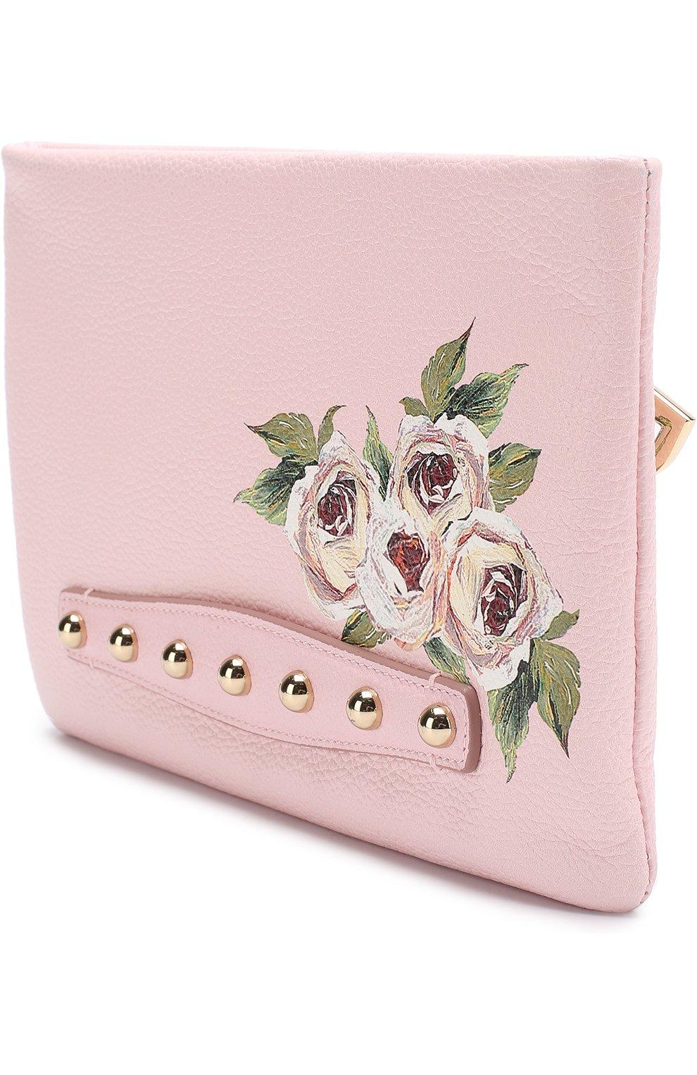 Клатч Cleo с принтом Dolce & Gabbana розового цвета | Фото №3