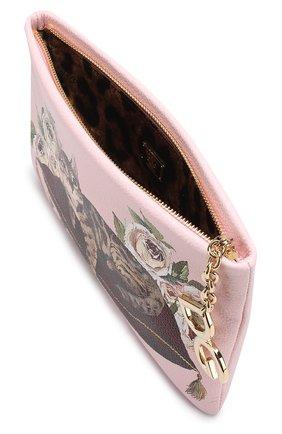 Клатч Cleo с принтом Dolce & Gabbana розового цвета | Фото №4