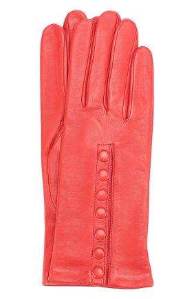 Кожаные перчатки Agnelle красные | Фото №1