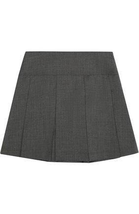 Шерстяная юбка со складками | Фото №1