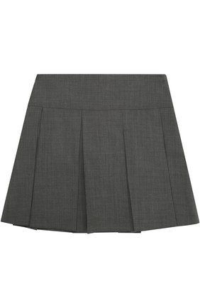Детская шерстяная юбка со складками DAL LAGO серого цвета, арт. R339/1011/XS-L | Фото 2