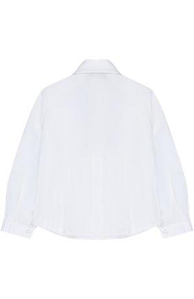 Хлопковая блуза с воротником аскот и бантом | Фото №2