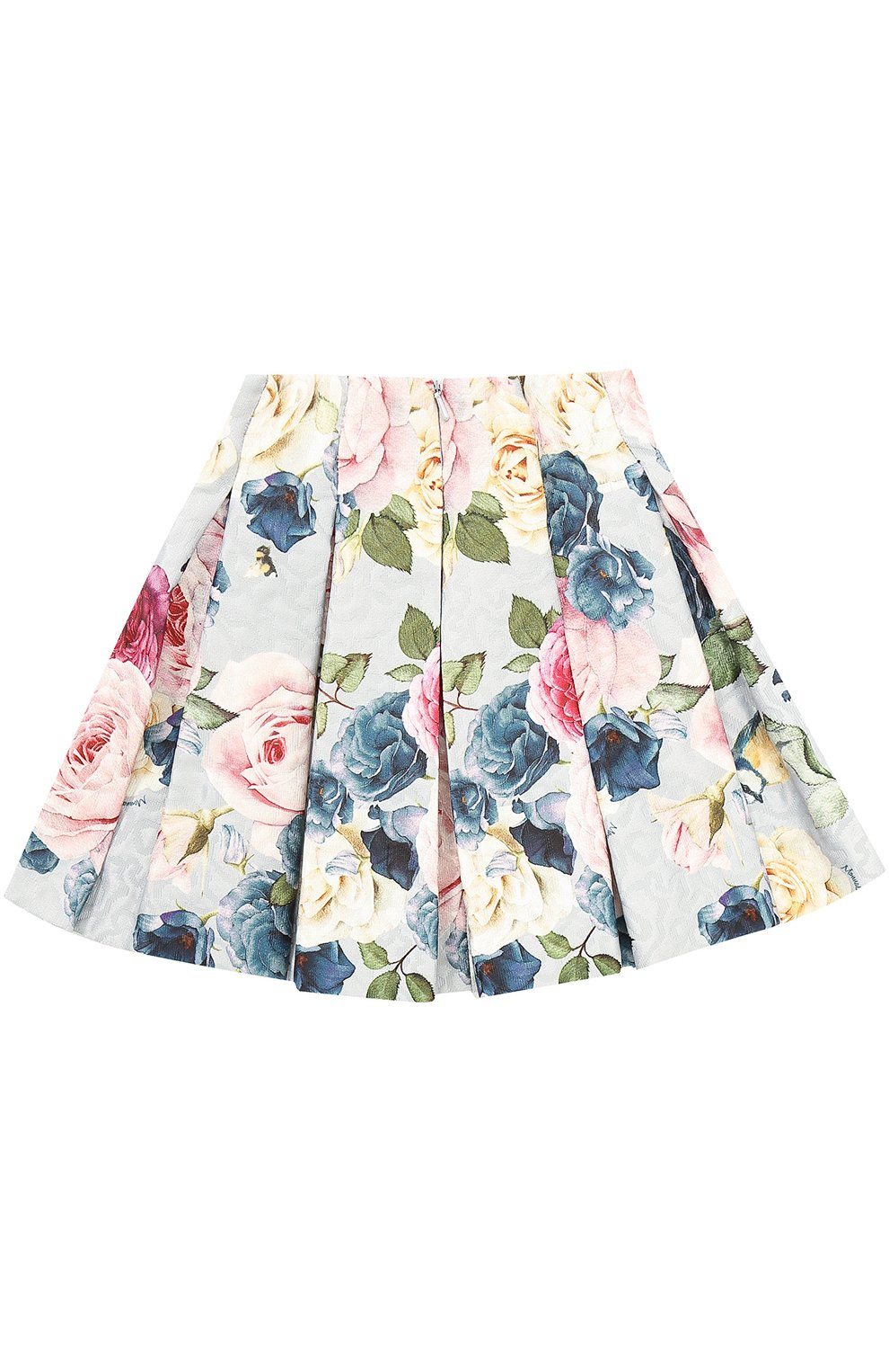 Мини-юбка с защипами и принтом | Фото №2