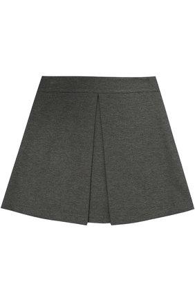 Детская мини-юбка джерси с защипом DAL LAGO серого цвета, арт. R360/8111/7-12 | Фото 1