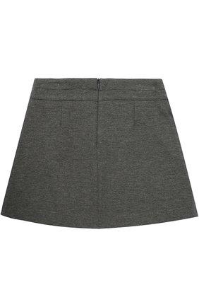 Детская мини-юбка джерси с защипом DAL LAGO серого цвета, арт. R360/8111/7-12 | Фото 2
