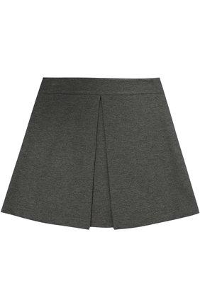 Мини-юбка джерси с защипом | Фото №1