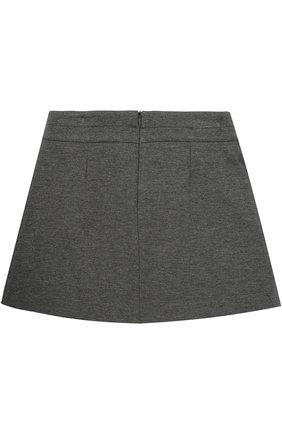Детская мини-юбка джерси с защипом DAL LAGO серого цвета, арт. R360/8111/XS-L | Фото 2