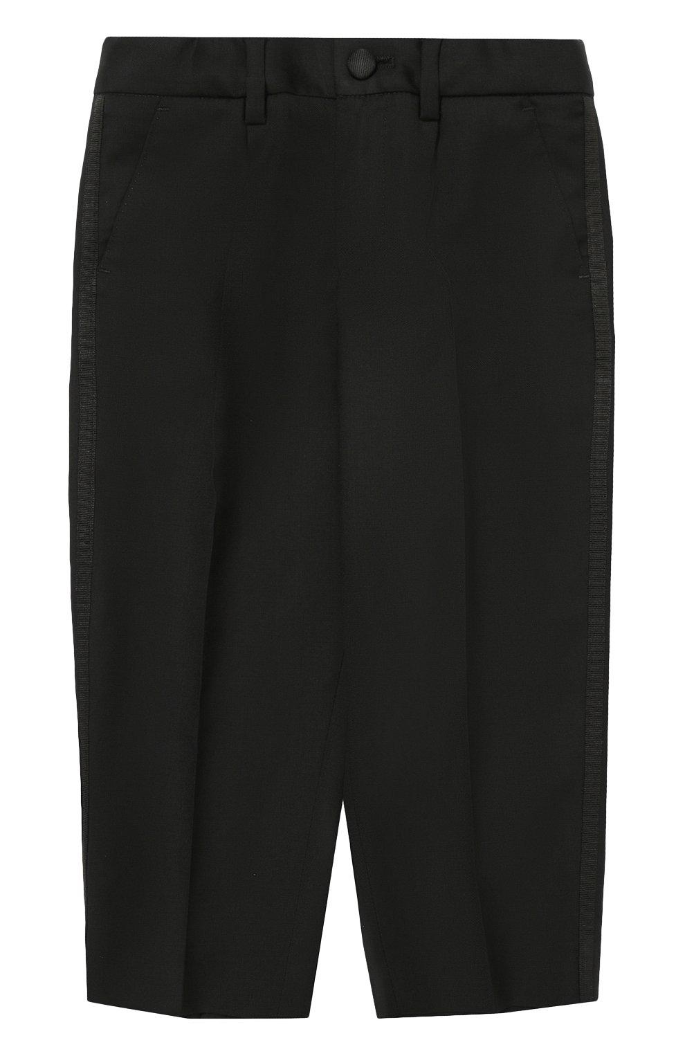 Шерстяной фрак с отделкой из шелка Dolce & Gabbana черного цвета | Фото №4