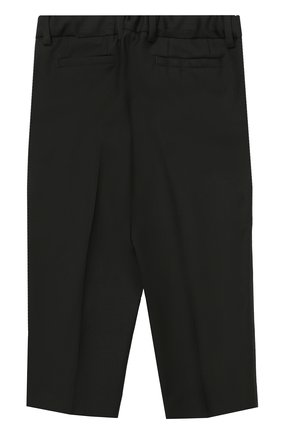 Шерстяной фрак с отделкой из шелка Dolce & Gabbana черного цвета | Фото №5