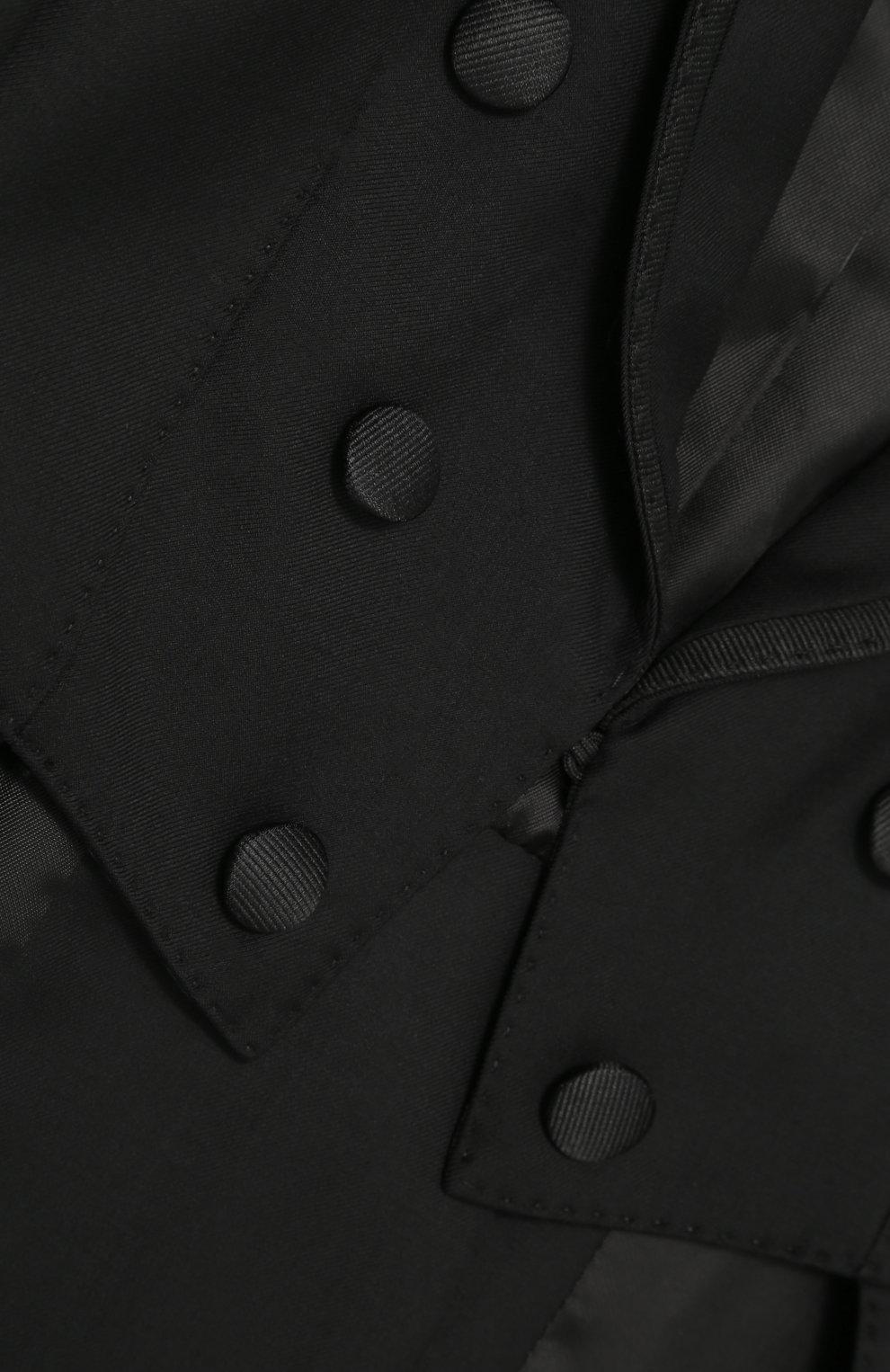 Шерстяной фрак с отделкой из шелка | Фото №3