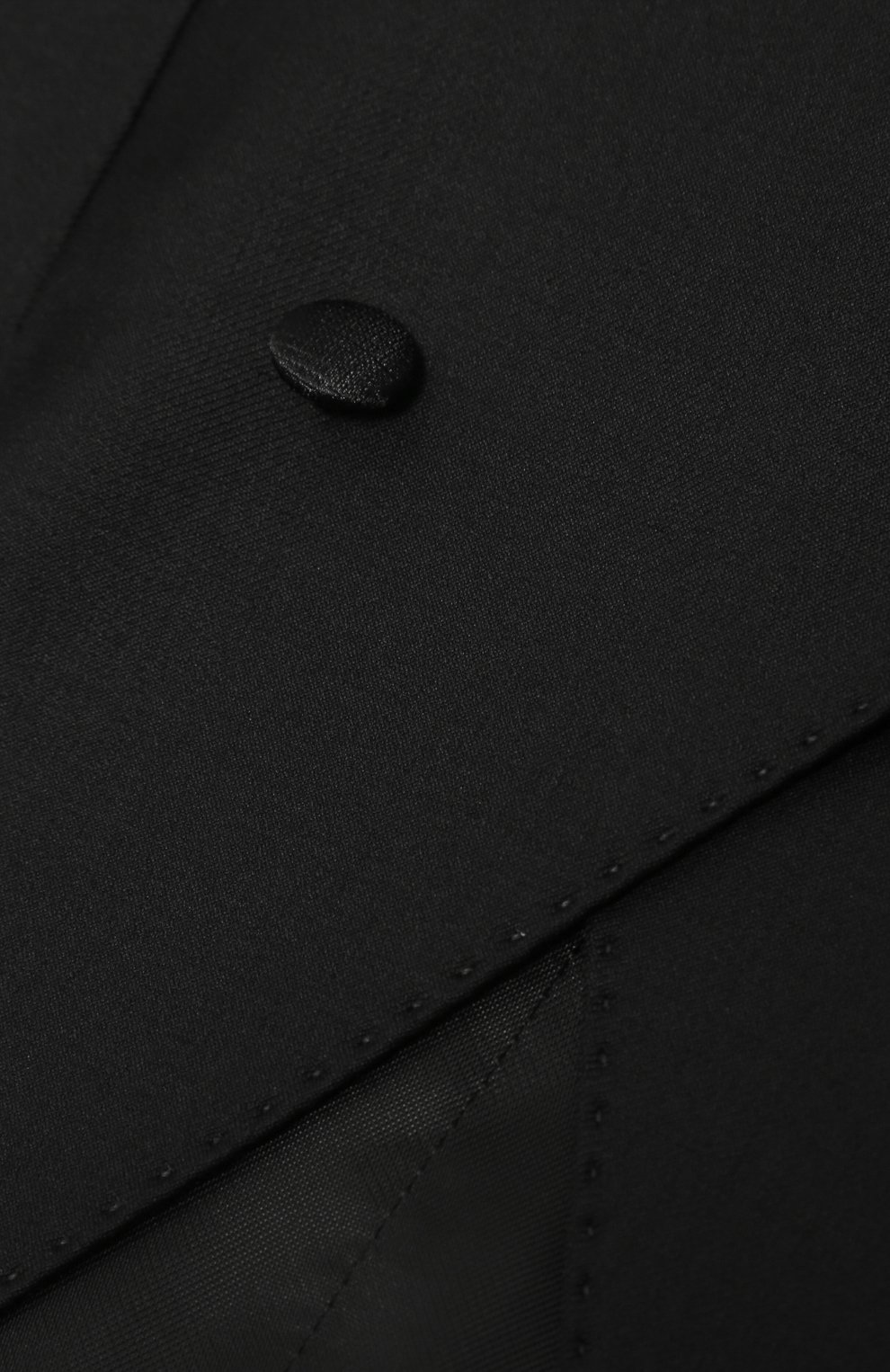 Детский двубортный жилет из шерсти и вискозы Dolce & Gabbana черного цвета | Фото №3