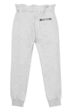 Спортивные брюки с эластичными манжетами и широким поясом   Фото №2
