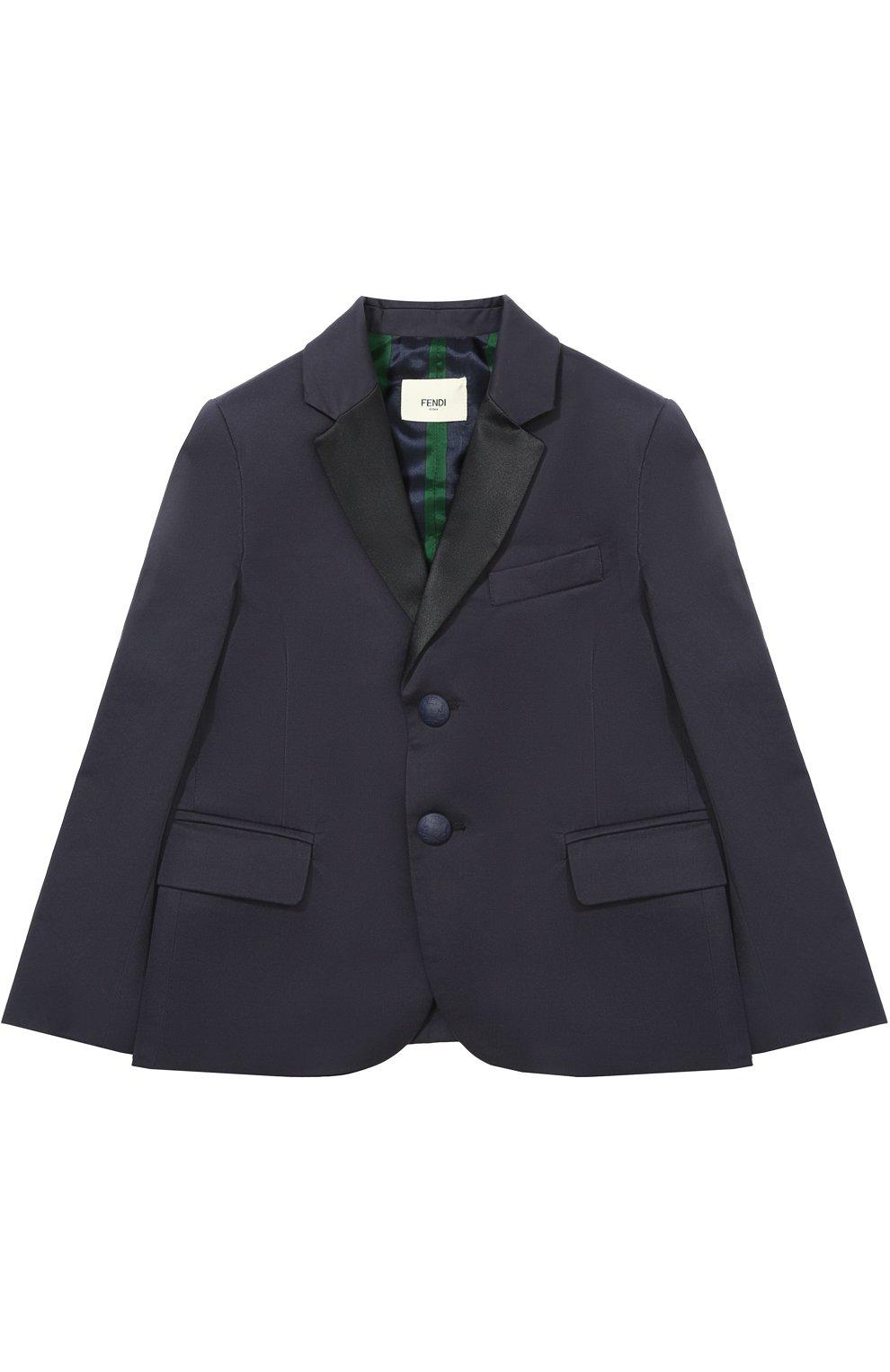 Однобортный пиджак из хлопка   Фото №1