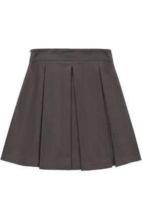 Детская юбка с широким поясом и защипами ALETTA темно-серого цвета, арт. AF555086NLL/9A-16A | Фото 2