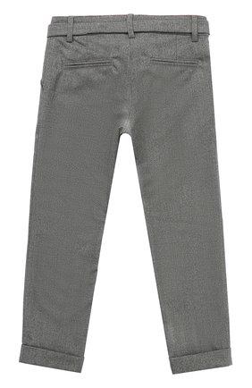 Детского брюки прямого кроя с поясом ALETTA темно-серого цвета, арт. AF555089R/4A-8A | Фото 2