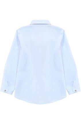 Хлопковая блуза прямого кроя с оборками и декоративной отделкой | Фото №2