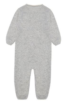 Детский кашемировый комбинезон с принтом LOVE IN KYO серого цвета, арт. A17C402/9M-12M | Фото 2