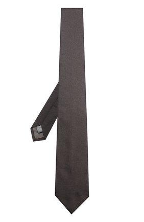 Детский галстук из смеси шелка и полиэстера DAL LAGO черного цвета, арт. N300/168/II   Фото 2