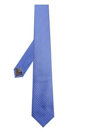 Детский галстук из смеси шелка и полиэстера с узором DAL LAGO голубого цвета, арт. N300/7328/II   Фото 2