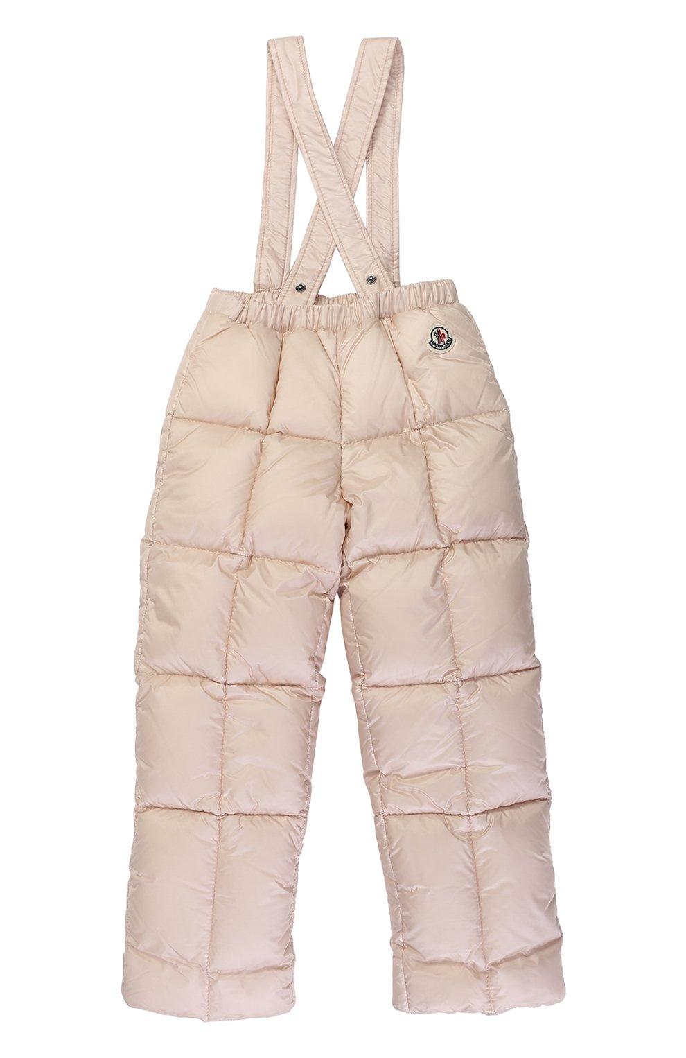 Детского пуховый комплект из комбинезона и куртки с меховой отделкой MONCLER ENFANT светло-розового цвета, арт. C2-951-70336-25-53048 | Фото 3