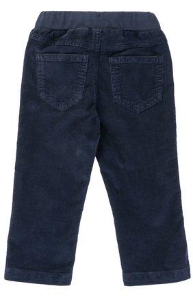 Детские хлопковые брюки прямого кроя с эластичным поясом IL GUFO синего цвета, арт. A17PL035V6005/12M-18M | Фото 2