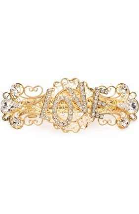 Заколка со стразами Dolce & Gabbana золотого цвета | Фото №1